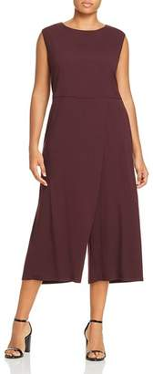Eileen Fisher Plus Overlay Wide-Leg Jumpsuit