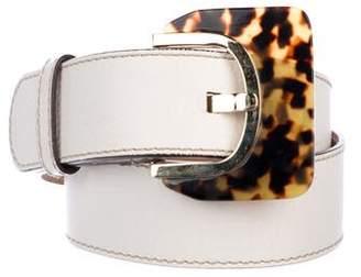 Oscar de la Renta Leather Buckle Belt