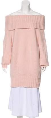 Celine Cashmere Off-The-Shoulder Sweater