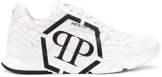 Philipp Plein side logo low top trainers