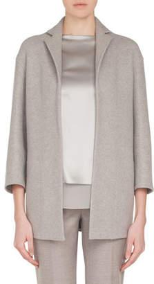 Akris Temel Notched-Lapel Snap-Close Cashmere Jersey Jacket