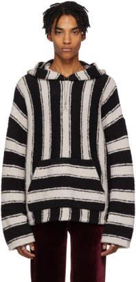 Amiri Black and White Baja Pullover Hoodie