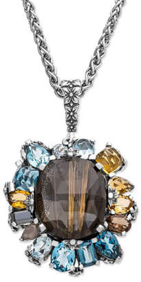 Stephen Dweck Multi-Stone Flower Pendant Necklace
