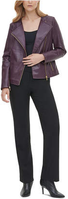 Calvin Klein Faux-Leather Motorcycle Jacket