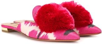 Aquazzura Powder Puff ikat slippers