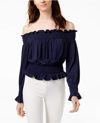 Michael Kors Off-The-Shoulder Crop Top