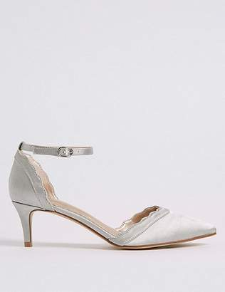 Marks and Spencer Kitten Heel Scallop Court Shoes