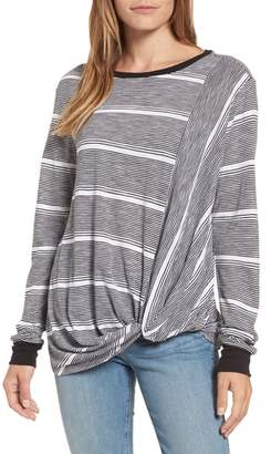 Caslon Twist Front Long Sleeve Tee