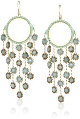 Miguel Ases Amazonite Multi-Drop Earrings
