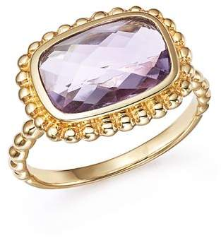 Bloomingdale's Rose Amethyst Beaded Ring in 14K Yellow Gold - 100% Exclusive