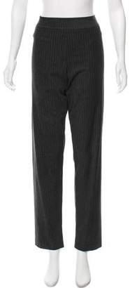 Avenue Montaigne High-Rise Pinstripe Pants w/ Tags
