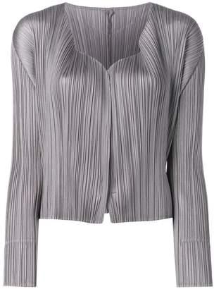Pleats Please Issey Miyake micro pleated jacket