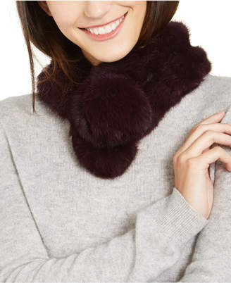 MARCUS ADLER Rabbit Fur Pull Through Scarf