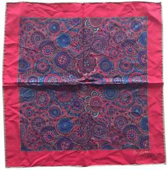 Christian Dior Red Silk Scarves & pocket squares