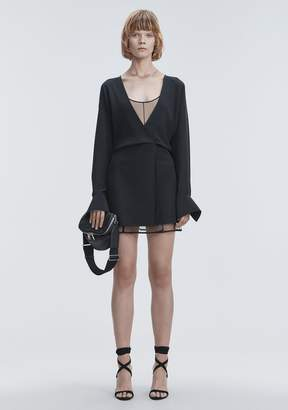 Alexander Wang V-NECK MINI DRESS