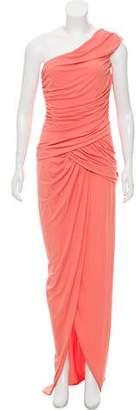 Michael Kors One-Shoulder Draped Evening Dress