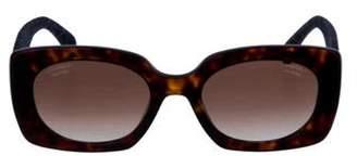 Chanel 2019 Denim Rectangle Sunglasses Brown 2019 Denim Rectangle Sunglasses