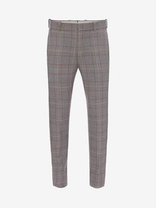Alexander McQueen Double-Faced Check Tailored Trousers