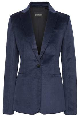 Banana Republic Long and Lean-Fit Solid Velvet Blazer