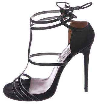 Tabitha Simmons Satin Ankle Strap Sandals