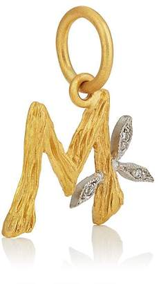 Cathy Waterman Women's Branch Initial Pendant - Gold
