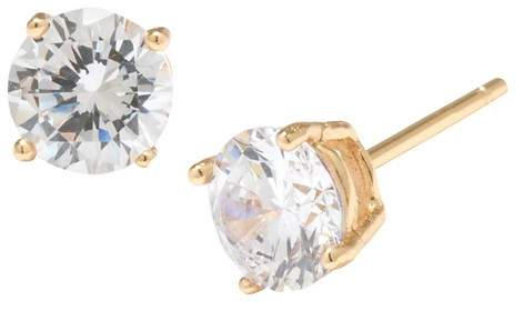 Distributed by Target Gold over Sterling Silver Round Cubic Zirconia Stud Earrings (6mm)