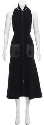 Fendi Sleeveless Virgin Wool Dress