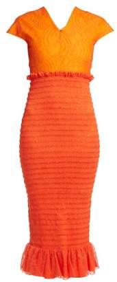 Emilio De La Morena Tamara Dionne silk-blend smocked dress