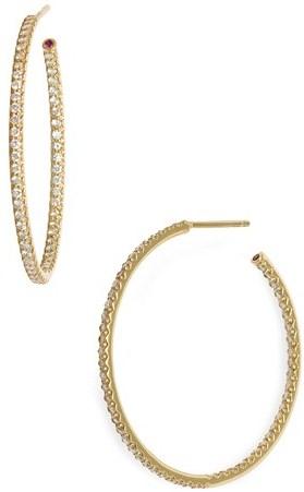 Roberto Coin Inside Out Diamond Hoop Earrings