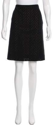 Vivienne Tam Embroidered A-Line Skirt