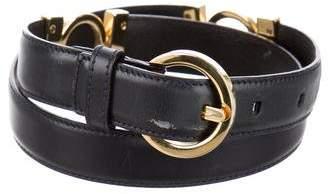 Salvatore Ferragamo Embellished Skinny Belt