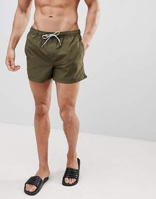 Burton Menswear Swim Shorts In Khaki