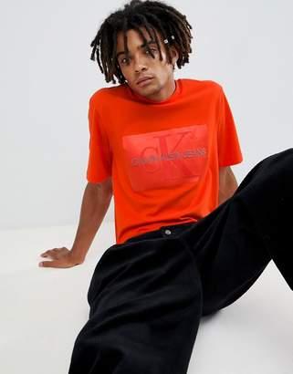 Calvin Klein Jeans t-shirt with shiny box logo