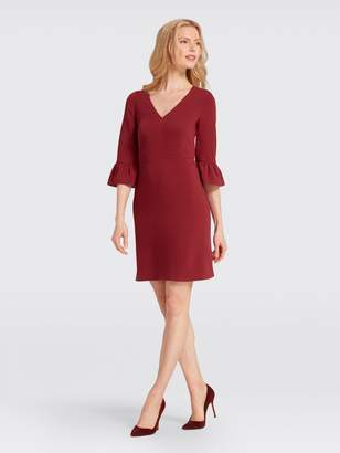 Draper James V-Neck Bell-Sleeve Dress