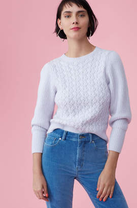 Rebecca Taylor La Vie Wavy Cable Pullover