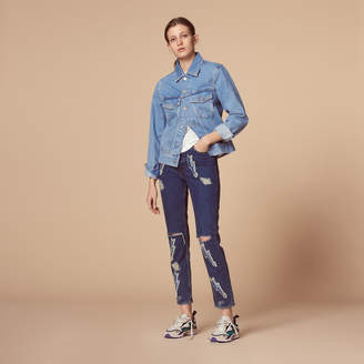 Sandro High-waist jeans with lightning inserts