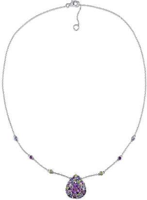 FINE JEWELRY Genuine Amethyst, Peridot and Tanzanite Necklace
