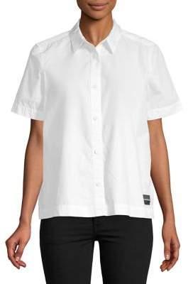 Calvin Klein Jeans Short-Sleeve Poplin Cotton Shirt