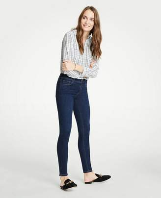 Ann Taylor Petite Modern All Day Skinny Jeans In Mid Indigo Wash