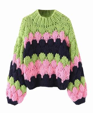 Goodnight Macaroon 'Em' Chunky Knit Multi-Colored Sweater (2 Colors)