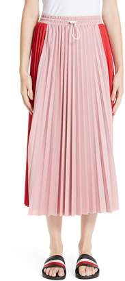 Moncler Colorblock Pleated Skirt