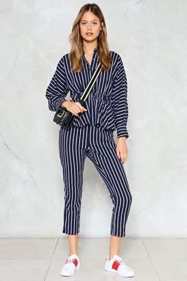 Nasty Gal Make It Stripe High-Waisted Pants