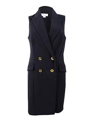 Calvin Klein Women's Sleeveless Collared Blazer Dress