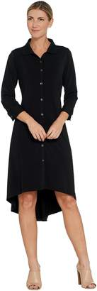 Halston H By H by Regular Jet Set Jersey 3/4 Sleeve Shirt Dress