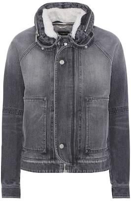 Saint Laurent Shearling-lined denim jacket