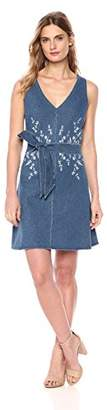 Lysse Women's Cooper Denim Tank Dress with Embroidery