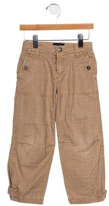 Burberry Boys' Herringbone Straight-Leg Pants