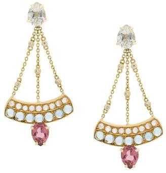 Dubini Sophia Chandelier 18kt gold earrings