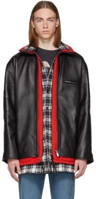 Balenciaga Black Leather Layered Jacket