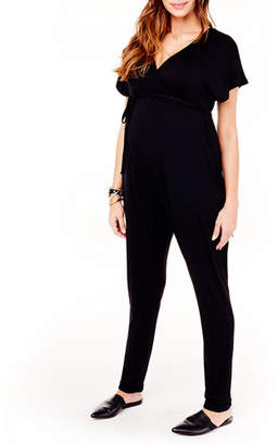 Ingrid & Isabel Maternity Cross-Front Jersey Jumpsuit